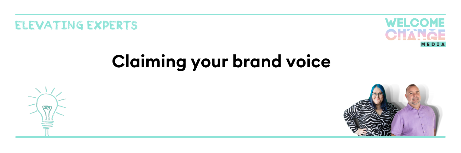 """EE2.02 Article Banner """"claiming your brand voice"""""""