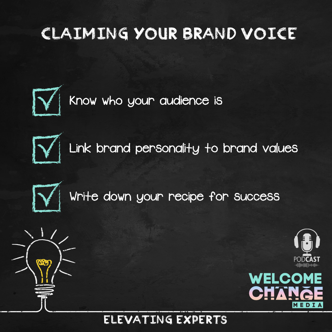 """EE2.02 Chalkboard """"claiming your brand voice"""""""