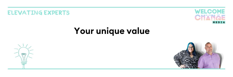 "EE2.05 Article Banner ""your unique value"""