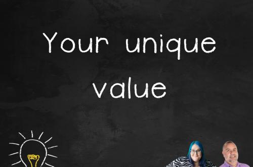 """Episode 2.04 podcast art """"your unique value"""""""